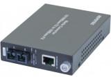 Convertisseur fibre optique/RJ45 - 100FX SC Mmode 15Kms