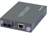 Convertisseur fibre optique/RJ45 - GIGABIT Mmode 10Kms