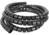 Organisateur câbles noir bobine 30m