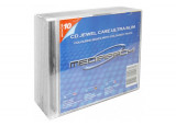 Pack 10 boitiers cd slim 1CD transparents