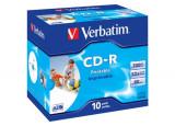 CD-R 80 700Mo Imprimable Verbatim Pack de 10 boites cristal