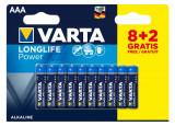 VARTA Piles alcalines LR03 AAA 8 + 2 offertes