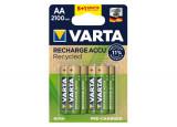 VARTA Piles rechargeables recyclées AA 5 + 1 offerte