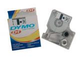 DYMO Ruban D1 - 12mm noir sur transp