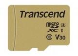 TRANSCEND Carte micro SDHC UHSI 500S Class 10 32 Go adaptateur SD inclus