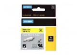 Ruban thermoretractable noir sur jaune 9MM pour rhinopro