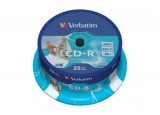 VERBATIM Spindle de 25 CD-R 700MB 52x (43439)