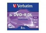 DVD+R DL 8,5GO 8x DOUBLE COUCHE BOITE DE 5 VERBATIM
