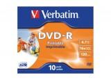 Boite de 10 dvd-r 16x 4,7GB verbatim imprim.