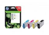 Pack Cartouche HP N9J74AE n°364XL - Noir + 3 couleurs
