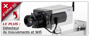 camera factice Détecteur de mouvements et WiFi