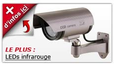 camera factice LED infrarouge