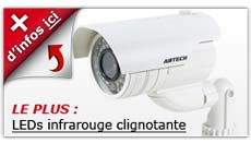 camera factice LED infrarouge clignotante