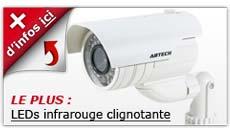 camera factice LED infrarouge clignotante