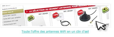 Toute l'offre des antennes WiFi en un clin d'œil