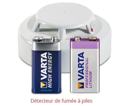détecteur de fumée a piles