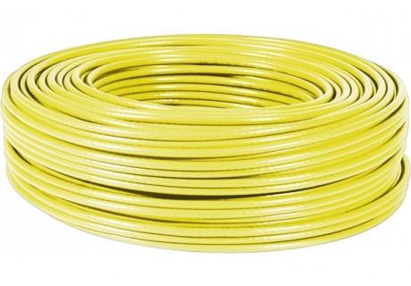 cable ethernet 100m Jaune multibrin CAT5e FTP
