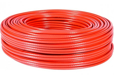 cable ethernet 100m rouge multibrin CAT5e FTP