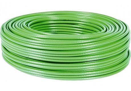 cable ethernet 100m vert multibrin CAT5e FTP