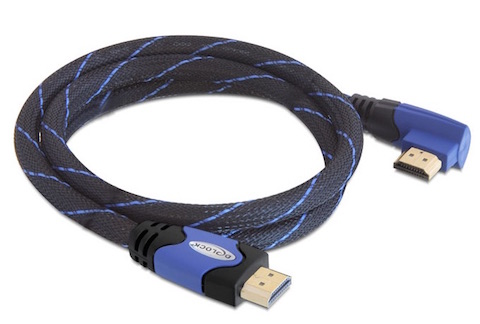 cable hdmi coudé haute vitesse brassage ethernet 5m a/a