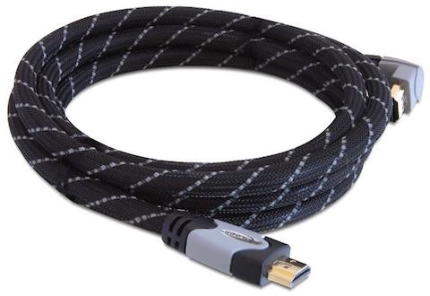 cable hdmi coudé haute vitesse brassage ethernet 2m a/a