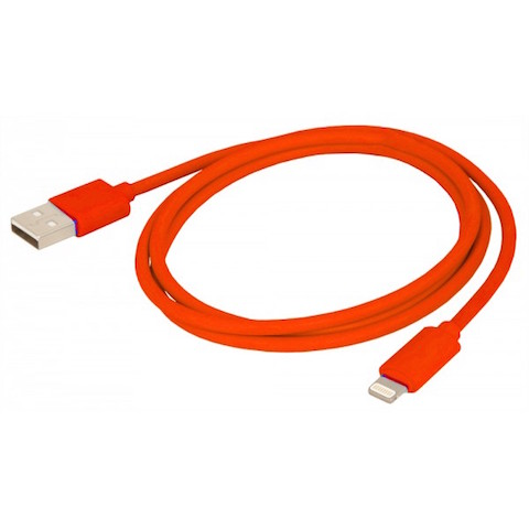 Câble Lightning rouge 1m Urban Factory