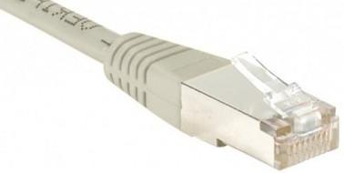 cable ethernet ftp gris 0,7m cat 5e