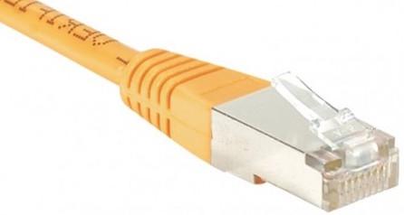 cable ethernet ftp orange 0,7m cat 5e