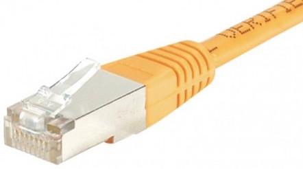 cable ethernet ftp orange 1,5m cat 5e