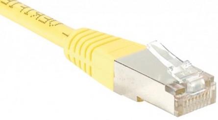 cable ethernet ftp jaune 5m cat 5e