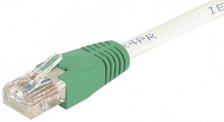 cable ethernet utp croisé gris 0,5m cat 6