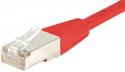 cable ethernet sftp croisé rouge 0,5m cat 6