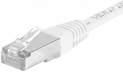 cable ethernet f/utp blanc 1,5m catégorie 6a