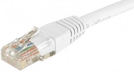 cable ethernet pas cher utp blanc 10m cat 5e