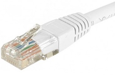 cable ethernet pas cher utp blanc 5m cat 5e