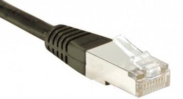 cable ethernet catégorie 6 sftp noir 3m