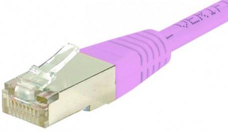 C ble rj45 cat6 s ftp rose 5m achat vente sur - Categorie cable ethernet ...