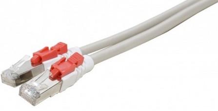 cable ethernet verrouillable catégorie 6 sftp gris 0,5m