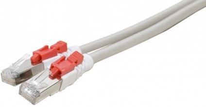 cable ethernet verrouillable catégorie 6 sftp gris 5m