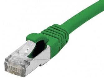 cable ethernet s/ftp vert 0,5m catégorie 6a