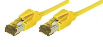 c ble rj45 cat 7 s ftp a connecteurs cat 6a jaune 0. Black Bedroom Furniture Sets. Home Design Ideas