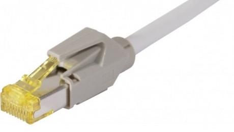 C ble rj45 cat 7 s ftp a connecteurs cat 6a gris 1m - Categorie cable ethernet ...