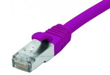 cable ethernet snagless lszh ftp violet 25m cat 6