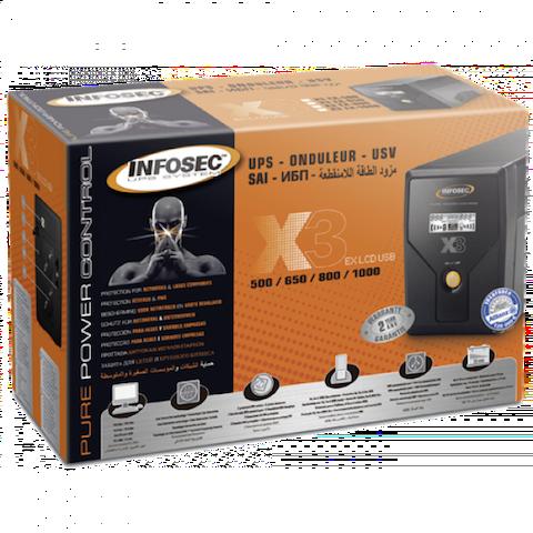 Onduleur Line Interactive 650VA Infosec X3 EX LCD USB