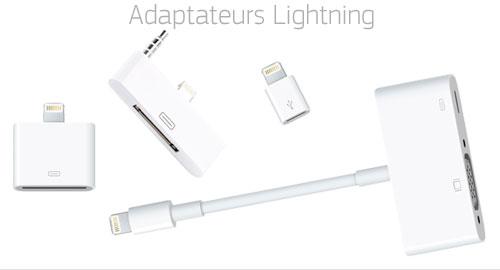 Les adaptateurs lightning