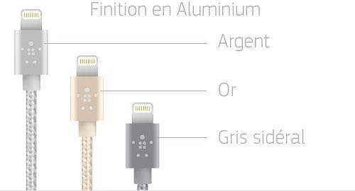 câble lightning aluminium