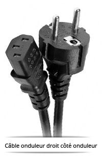 Cable onduleur droit côté onduleur