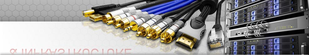 câbles réseaux RJ45, fibre optique, câbles audio, câbles audio-vidéo, câbles vidéo, installation électriques & TV, câbles écrans-claviers-souris, liaisons internes, DB-25, DB9, câbles USB, câbles FireWire, câbles téléphonique et ADSL, câbles électrique, multiprises, baies de brassage, câbles ethernet, PDU...