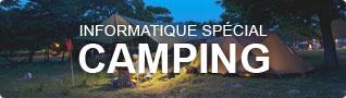 Tout l'équipement informatique spécial camping