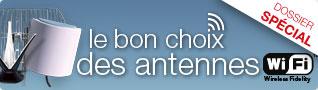 Le bon choix des antennes Wi-Fi